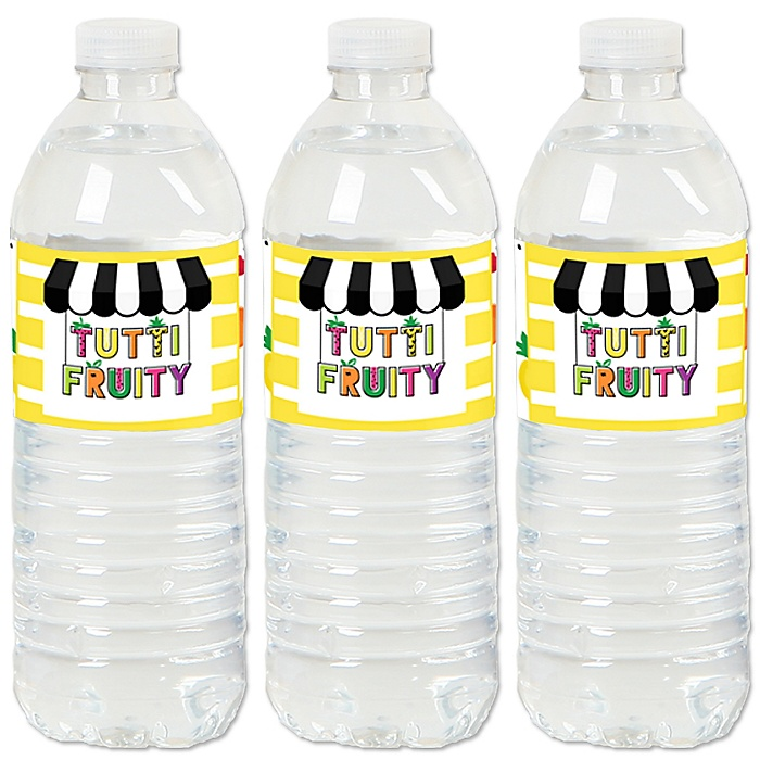 Tutti Fruity - Frutti Summer Baby Shower or Birthday Party Water Bottle Sticker Labels - Set of 20