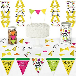 Tutti Fruity - DIY Pennant Banner Decorations - Frutti Summer Baby Shower or Birthday Party Triangle Kit - 99 Pieces