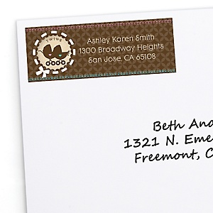 Twin Baby Carriages 1 Boy & 1 Girl - Personalized Baby Shower Return Address Labels - 30 ct