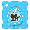Twin Boy Baby Carriages - Personalized Baby Shower Tags - 20 ct