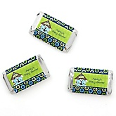 Twin Boy Puppy Dogs - Personalized Baby Shower Mini Candy Bar Wrapper Favors - 20 ct
