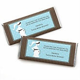 Mommy Silhouette It's Twin Boys - Personalized Baby Shower Candy Bar Wrapper Favors