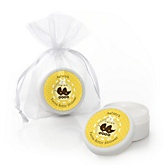 Twin Neutral Baby Carriages - Personalized Baby Shower Lip Balm Favors