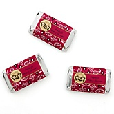 Twin Little Cowboys - Western Personalized Baby Shower Mini Candy Bar Wrapper Favors - 20 ct