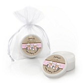Twin Little Cowgirls - Western Personalized Baby Shower Lip Balm Favors