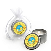Twin Ducky Ducks - Candle Tin Personalized Baby Shower Favors