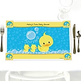 Twin Ducky Ducks - Personalized Baby Shower Placemats