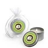 Twin Baby Elephants - Candle Tin Personalized Baby Shower Favors