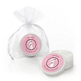 Mommy Silhouette It's Twin Girls - Personalized Baby Shower Lip Balm Favors