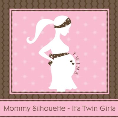 Mommy Silhouette Itu0027s Twin Girls   Baby Shower Theme