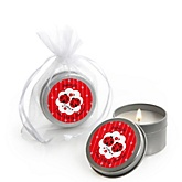 Twin Modern Ladybugs - Candle Tin Personalized Baby Shower Favors