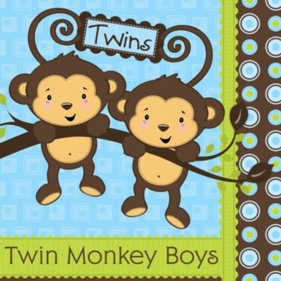 Twin Monkey Boys   Baby Shower Theme