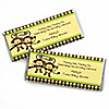 Twin Monkeys Neutral - Personalized Baby Shower Candy Bar Wrapper Favors