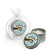 Owl - Look Whooo's Having Twins - Candle Tin Personalized Baby Shower Favors