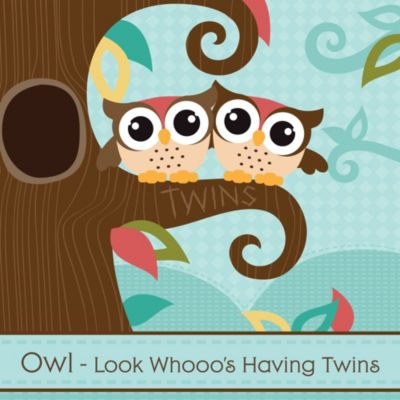 Owl   Look Whooou0027s Having Twins   Baby Shower Theme