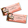 Owl Girl - Look Whooo's Having Twins - Personalized Baby Shower Candy Bar Wrapper Favors