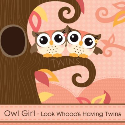 Owl Girl   Look Whooou0027s Having Twins   Baby Shower Theme