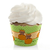 Twin Little Pumpkins African American - Baby Shower Cupcake Wrappers & Decorations