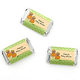 Twin Little Pumpkins African American - Personalized Baby Shower Mini Candy Bar Wrapper Favors - 20 ct