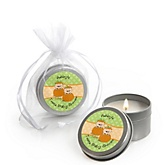 Twin Little Pumpkins Caucasian - Candle Tin Personalized Baby Shower Favors