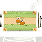 Twin Little Pumpkins Caucasian - Personalized Baby Shower Placemats