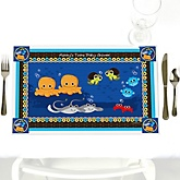 Twin Under The Sea Critters - Personalized Baby Shower Placemats