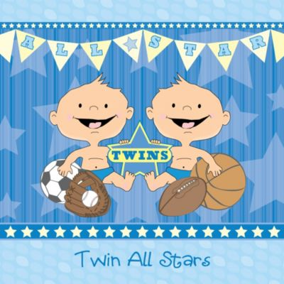 Twin All Stars   Baby Shower Theme