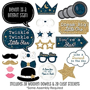 Twinkle Twinkle Little Star - 20 Piece Photo Booth Props Kit