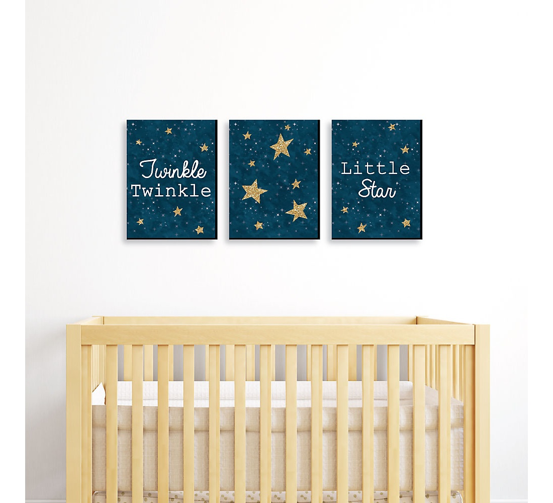 Le Little Star Baby Boy Nursery Wall Art Kids Room Decor 7 5 X 10 Inches Set Of 3 Prints