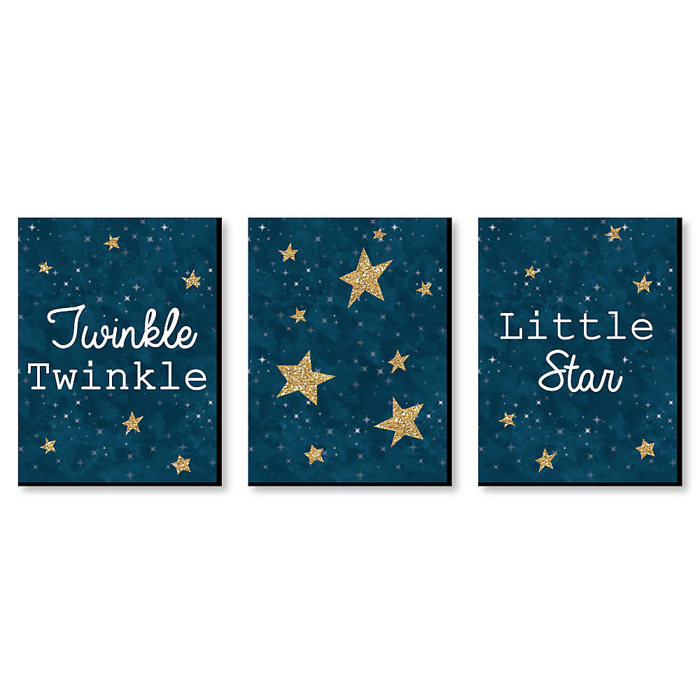 Twinkle Twinkle Little Star Baby Boy Nursery Wall Art Kids Room Decor 7 5 X 10 Inches Set Of 3 Prints