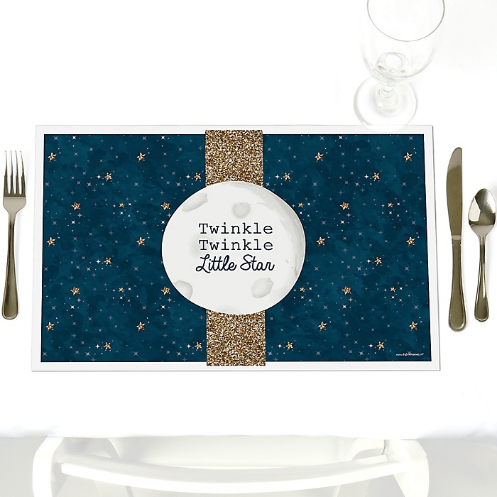 Twinkle Twinkle Little Star - Party Table Decorations - Party Placemats - Set of 12