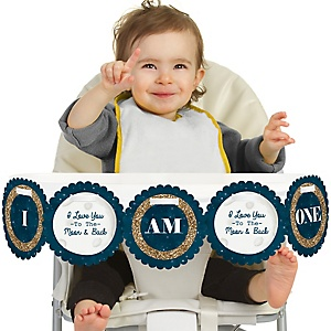 Twinkle Twinkle Little Star 1st Birthday - I am One - First Birthday High Chair Banner