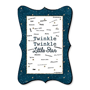 Twinkle Twinkle Little Star - Unique Alternative Guest Book - Baby Shower or Birthday Party Signature Mat