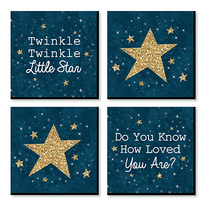 Le Little Star Nursery Decor 11 X Inches Kids Wall Art Baby Shower Gift Ideas Set Of 4 Prints For S Room