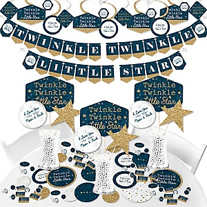 Twinkle Twinkle Little Star - Baby Shower or Birthday Party Supplies - Banner Decoration Kit - Fundle Bundle