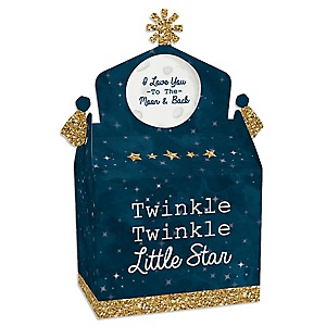Twinkle Twinkle Little Star - Treat Box Party Favors - Baby Shower or Birthday Party Goodie Gable Boxes - Set of 12