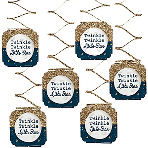 Twinkle Twinkle Little Star - Party Hanging Decorations - 6 ct