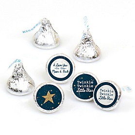 Twinkle Twinkle Little Star - Round Candy Labels Party Favors - Fits Hershey's Kisses - 108 ct