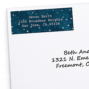 Twinkle Twinkle Little Star - Personalized Party Return Address Labels - 30 ct