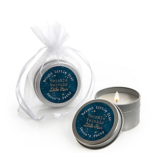 Twinkle Twinkle Little Star - Personalized Party Candle Tin Favors - Set of 12