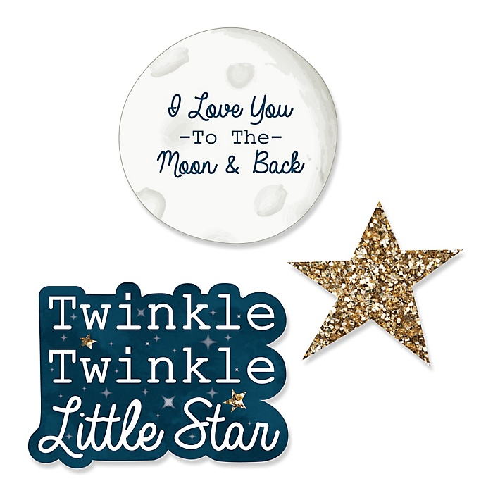 Twinkle Twinkle Little Star - DIY Shaped Party Paper Cut-Outs - 24 ct