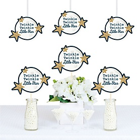 Twinkle Twinkle Little Star - Moon and Star Decorations DIY Baby Shower or Birthday Party Essentials - Set of 20