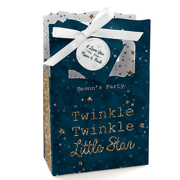 Twinkle Twinkle Little Star - Personalized Party Favor Boxes - Set of 12