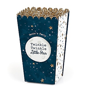 Twinkle Twinkle Little Star - Personalized Party Popcorn Favor Treat Boxes - Set of 12