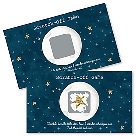 Twinkle Twinkle Little Star - Party Game Scratch Off Cards - 22 ct
