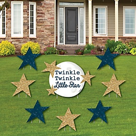 Twinkle Twinkle Little Star - Yard Sign & Outdoor Lawn Decorations - Baby Shower or Birthday Party Yard Signs - Set of 8
