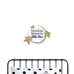 Twinkle Twinkle Little Star - Nursery and Kids Room Home Decorations - Shaped Wall Art - 1 Piece