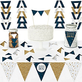 Twinkle Twinkle Little Star - DIY Pennant Banner Decorations - Baby Shower or Birthday Party Triangle Kit - 99 Pieces