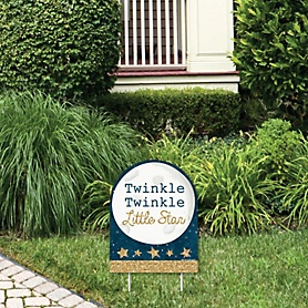 Twinkle Twinkle Little Star - Outdoor Lawn Sign - Baby Shower or Birthday Party Yard Sign - 1 Piece