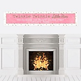Pink Twinkle Twinkle Little Star - Personalized Party Banners
